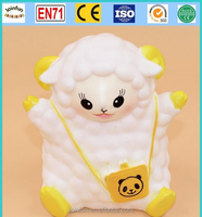 soft plastic vinyl squirting toy, oem vinyl good quality baby playing toy, soft vinyl sheep animal toys
