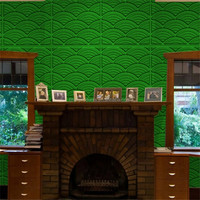 Embossed effect wallpaper paint designs