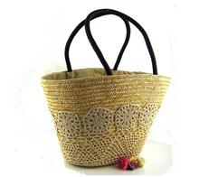 Women Simple wild shoulder straw bag female weaving bag Lady's handbag for office,holiday,beach bag hand woven bag