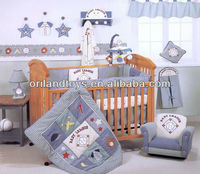 2014 Shanghai popular Applique quilted baby bedding set