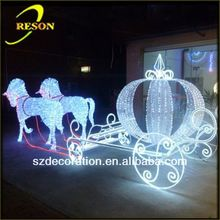RS-carriage05 lighting 3d craft christmas decoration/ornaments