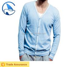 Solid Color Men's Wool Cardigan Sweater Russian Knitwear
