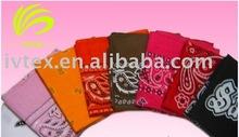 Promotional Full 100% Polyester Fashionable Colorful Bandanas