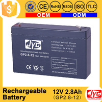 Good cost performance rechargeable battery 12v 2.8ah