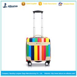 wholesale alibaba boarding eminent trolley luggage PU 16 inch aluminum trolley luggage