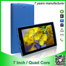 fashion ultra slim cheap tablet PC quad core Android4.4 with wifi support 3g phone calling factory wholesaling ZXS-7-N-3G