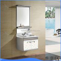 OEM Euro style bathroom vanity cabinet with LED light mirror