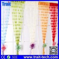 Romantic Heart-shaped Window Door Vestibule Soft Curtain Porch Panel Line String Tassel Curtain Drape