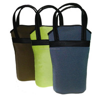 (2 Pack) Insulated Wine Bag / Travel Bottle Carrier & Cooler Tote
