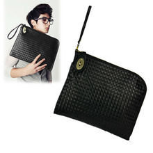 New Unisex Europe Retro Synthetic Leather Shoulder Bag Clutch Bag
