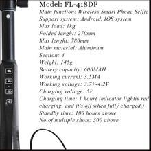 For mobile phone wireless traveller built in power monopod