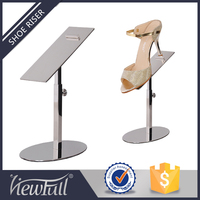 Elegant stainless steel shoe display riser stand