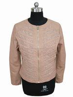 fashion women PU leather jacket