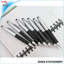 leather metal write and touch screen pen