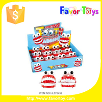 New model promotion gift wind up teeth plastic toys for kids