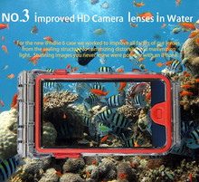 Underwater 10m wateproof diving cell phone case for iphone 6