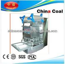 Semi- automatico 2 bandejas de sellado de la máquina de la bandeja de comida de plástico seaer taza de sellado de la máquina