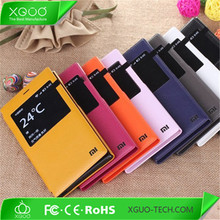 leather flip case for xiaomi redmi 1s , hongmi 1s flip case cover