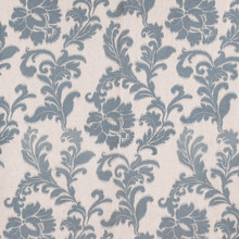 Nature Cotton Linen Blue Floral Pattern Print Curtain Fabrics