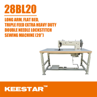 8BL20 super long arm extra heavy-duty walking foot and needle feed double needle leather sofa sewing machine