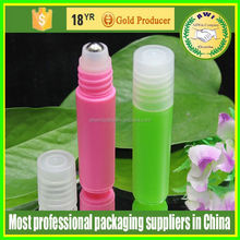 frosted 10ml refillable roll on roll on perfume bottle with plastic roller ball