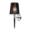2015 contemporary chrome wall lamp with black leather hose W1021