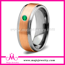 Custom Made Tungsten Wedding Ring With Zircon For Men