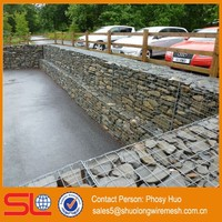 Stainless Steel Gabion Box Stone Cage, 4mm diameter with accessories spiral