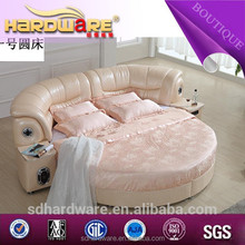 2015 health and comfortable bed with circular bed mattress