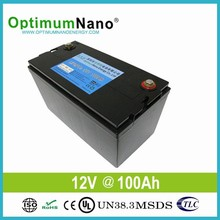 Deep cycle lithium 12V 100Ah battery for UPS and solar power system