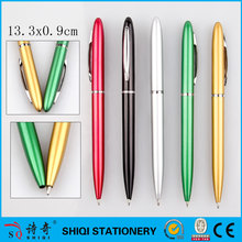 Plastic simple twist ball pen with metal clip