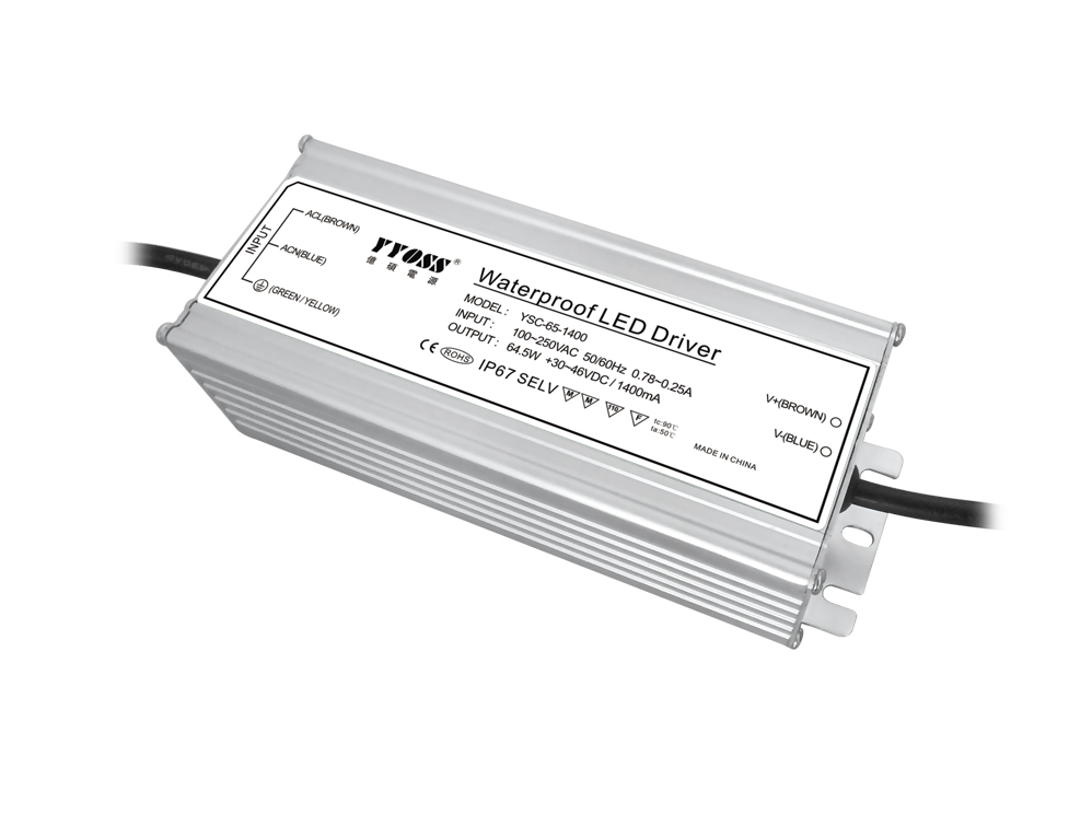 60W 350mA/700Ma/1500mA constant current waterproof led power supply