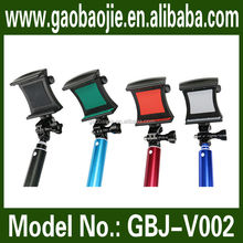 2015 hottest colorful selfie shooting with bluetooth aluminum handheld monopod