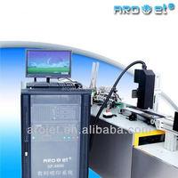arojet industrial printing machine! self-clean head inkjet printer for bleach card