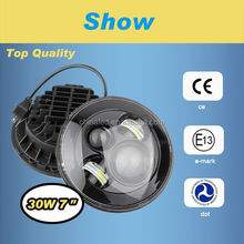 Make in China new high quality C.R.E.E. LED 12~30v J.E.E.P. 7'' round off road light with H4&H13 for Jeep Wrangler