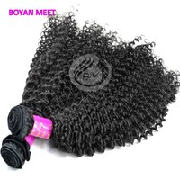 Alibaba best vendors tangle free 5A kinky curly ,virgin brazilian human hair weave