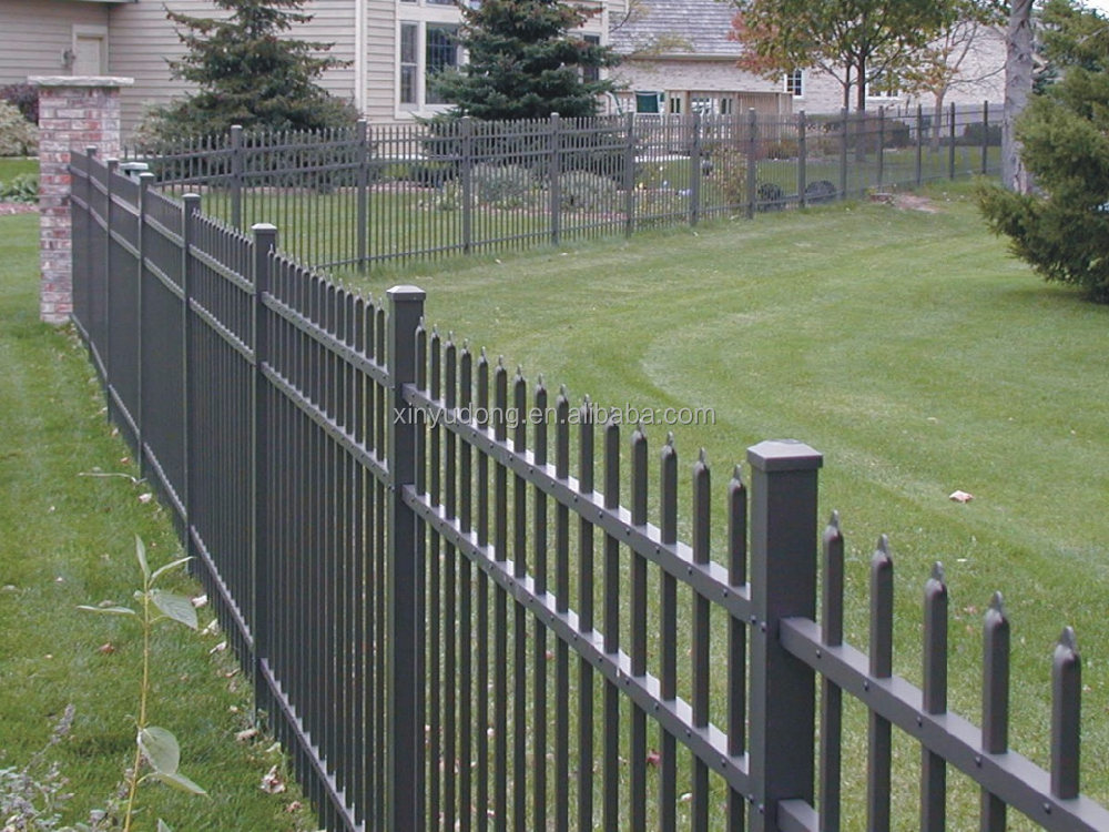 New aluminum fence and black