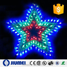 RGB Animated 51CM Star Motif LED Christmas Lights With Controller