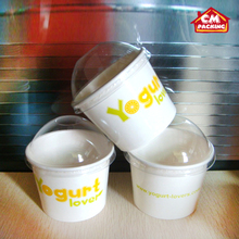 Party Decoration Ice Cream Paper Cup and plastic lid Manufacturer Ice Cream Paper Cup