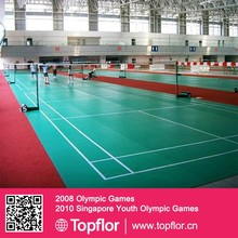 rolled out indoor badminton sports flooring