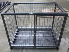 Folding stainless steel dog cage