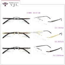 designer eyeglass frames rimless design pure titanium
