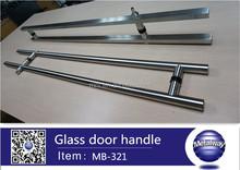 glass door handle with lock stainless steel handle door pull handle