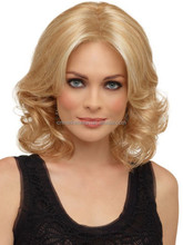 Wholesale Fashionable Blonde Wavy Synthetic None Lace Short Hair Wigs