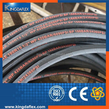heavy duty, high impulse, multiple spiral steel wire reinforced, rubber cover hydraulic hose SAE 100 R15