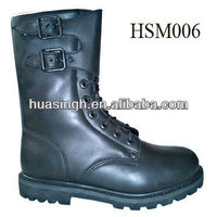 XY,high level classic name brand genuine leather double-buckle military boots 2013