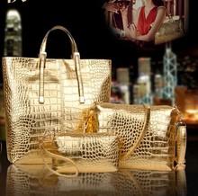 D16500A 2015 Alligator pattern fashion casual handbag ,big size ladies handbag
