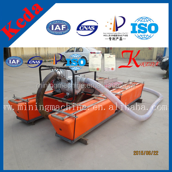 Portable Suction Dredge : Shallow river gold dredger mini portable mining