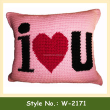 W-2171 Waist Back Throw Pillowcase Cotton Home Crochet Pillow Case Bedding Knitted Couch Cushion Cover