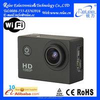 140 Degree wifi function 30m waterproof full HD 1080P helmet sport camera